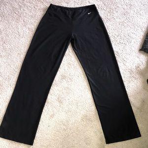 Women's NIKE FIT Dry Wide Leg Black Athletic Pants